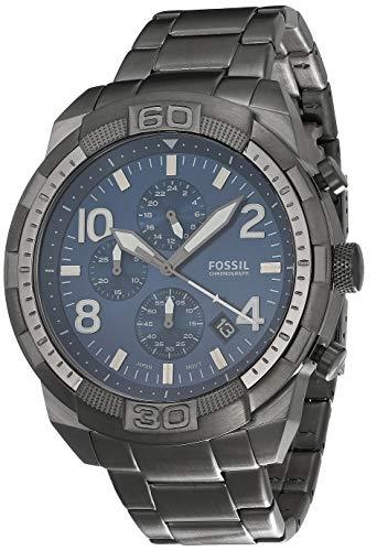 Fossil Relógio Masculino Bronson de Aço Inoxidável com Cronógrafo, Fumê, One Size, Relógio cronógrafo Bronson