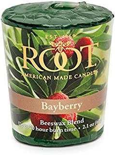 Root Candles 20-Hour Scented Beeswax Blend Votive Candles, 18-Count, Bayberry