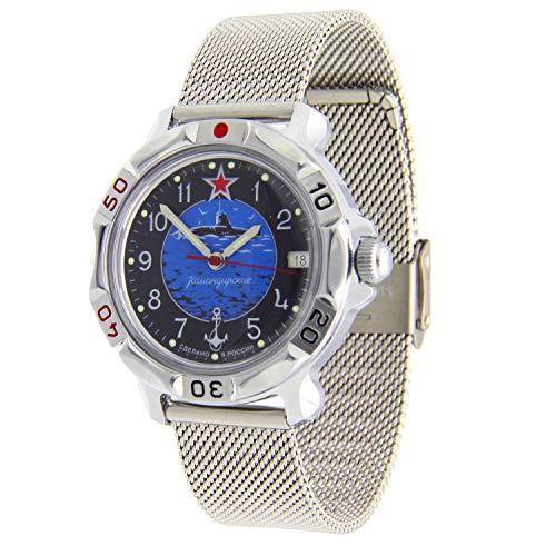 Vostok Komandirskie #811163 Reloj de pulsera de malla militar rusa