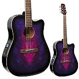 Guitarra electroacústica lindo Golondrina en púrpura w / pre-amp y sintonizador Digital