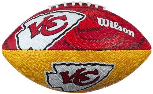 WILSON Football NFL Junior Kansas City Chiefs Logo, Mehrfarbig, 5, WL0206704040