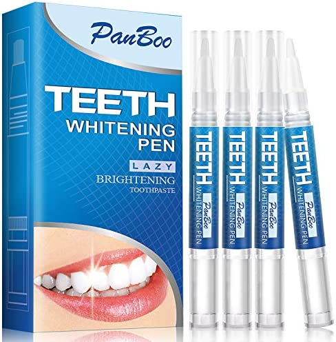 Natural Teeth Whitening Pen with 4x3ml Tooth Whitening Gel Removes Stains Safely 30 Uses Effective product image
