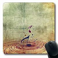 マウスパッド長方形7.9x9.8芸術的クラシック音部記号要約音楽ノートその他のコンサートイベント美しいシートスタッフ交響曲滑り止めラバーマウスパッドオフィスコンピューターラップトップゲームマット