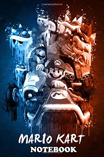 """Notebook: Mario Kart , Journal for Writing, College Ruled Size 6"""" x 9"""", 110 Pages"""