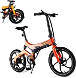 Folding Electric Bike Ebike for Adults, 20'' Electric Commuter Bicycle with 7.5AH Removable Lithium-Ion Battery, 36V 250W Motor and Smart Adjustable Speed