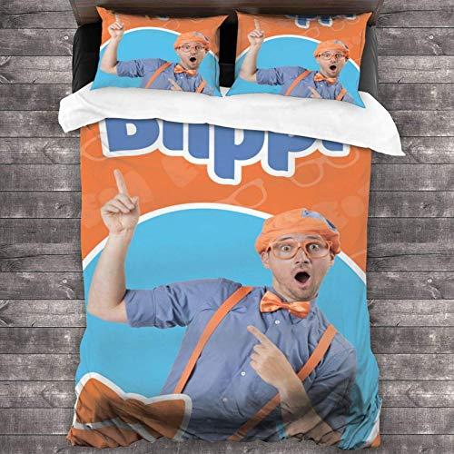 Bli-P-P-I - Juego de sábanas de 3 piezas de 2016 x 180 cm, cómodas sábanas de tamaño completo con 2 fundas de almohada coloridas con impresión 3D para habitación de invitados de los niños