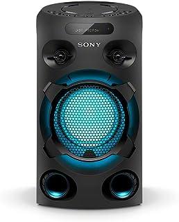 Sony MHC-V02 Sistema audio All in One con JET BASS BOOSTER, Effetti Luminosi, Lettore CD, Bluetooth, USB, Nero