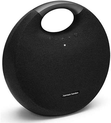 Harman Kardon Onyx Studio 6 - Sistema de altavoces Bluetooth inalámbrico IPX7 impermeable con batería recargable, micrófono incorporado, Negro, Speaker Only (Renewed)
