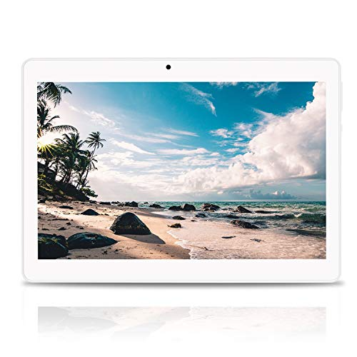 Tablet 10.1 pollici Android 10 4GBRAM+64GB ROM batteria 8000mAh display IPS 2.5D Processore quad-core 1,5GHz Slot scheda Dual SIM 3G 5MP+8MP Doppia fotocamera Bluetooth GPS