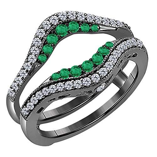 DS Jewels Hombre Unisex Mujer 0.925 plata de ley Cubic Zirconia