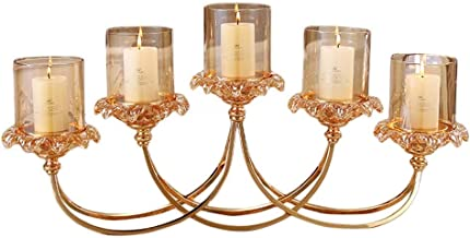 American Home Metal Glass Candlestick Decoration Crafts European Model Room Decoration Table Romantic Candle Holder