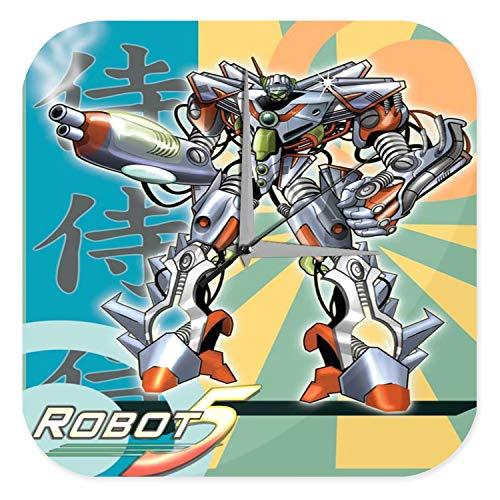 LEotiE SINCE 2004 Horloge Murale Cartoon Art Amusant Marke Manga Japon Robots Imprimee 25x25 cm