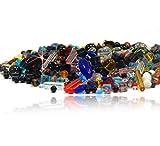 1kg Glasperlen Kristall Mix Rund Würfel Oval Kristal für Schmuck Basteln V1