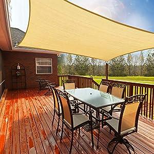 Toldo Vela de Sombra Rectangular 2.5 x 3m, Toldos Exterior Terraza Permeable Protección Solar 95% UV y Transpirable Toldo para Exteriores, Terrazas, Patio, Jardín, Camping, Porche, Piscinas, Barbacoa
