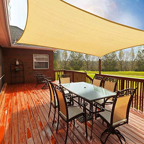 Toldo Vela de Sombra Rectangular 2.5 x 3m, Toldos Exterior Terraza Permeable Protección Solar 95% UV y Transpirable para Patio, Jardín, Camping, Porche, Piscinas