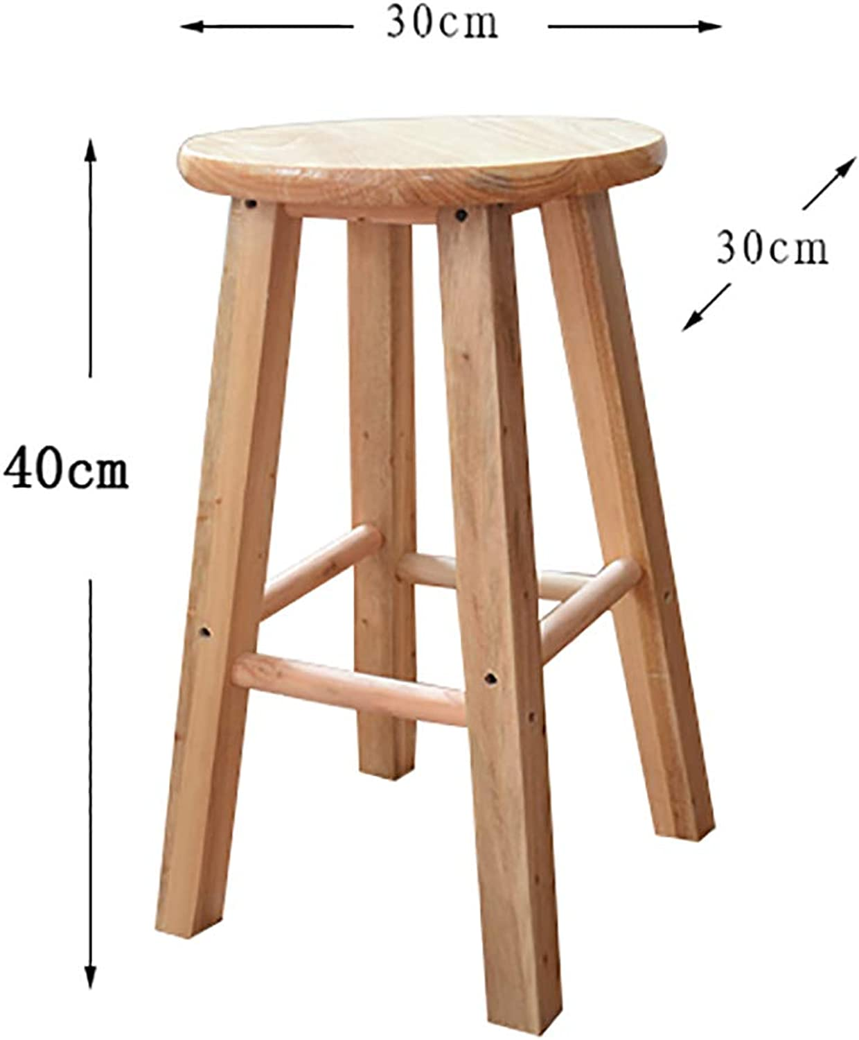 Oak Wood Bar Stool,Bar Chair,High Stool (40cm,60cm,70cm,80cm) (Size   40  30  30cm)