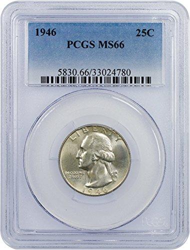 1946 P Washington Quarter Quarter MS 66 PCGS