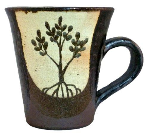 西表焼 青烽窯 マグカップ(茶)