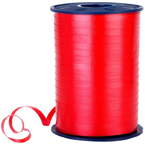 Morex Poly Crimped Curling Ribbon, 3/16-Inch by 500-Yard, Red
