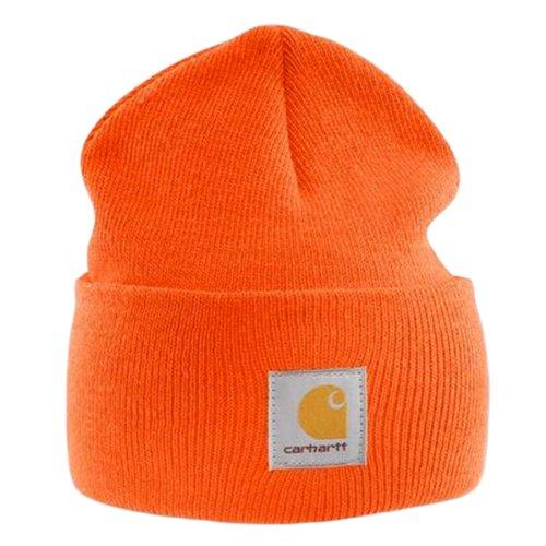 Carhartt Acrylic Watch Cap - Bright Orange CHA18BOG Mens Winter Beanie Ski Hat