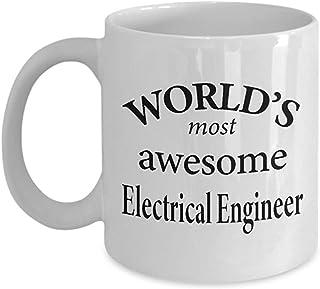 Taza de café de ingeniero eléctrico - Regalos para ingenieros eléctricos - Jubilación, cumpleaños para él, ella, hombres, mujeres, papá, mamá - Taza de ingeniero eléctrico