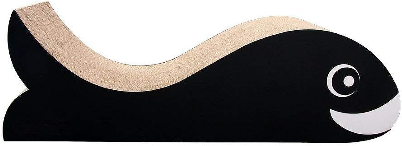 Cat Scratch Board, Dolphin Ultimate Cat Scratcher Lounge [Advanced Cardboard & Construction] with Catnip