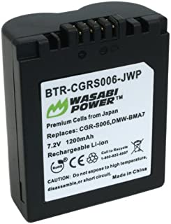 Wasabi Power Battery for Panasonic CGR-S006A and Lumix DMC-FZ7, DMC-FZ8, DMC-FZ18, DMC-FZ28, DMC-FZ30, DMC-FZ35, DMC-FZ38, DMC-FZ50