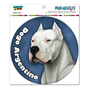 Graphics and More Dogo Argentino - Dog Pet Circle Automotive Car Refrigerator Locker Vinyl Magnet 3