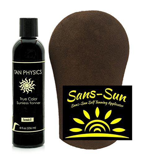 Tan Physics True Color Tanner 8 oz w/Tanning Mitt by Sans-Sun