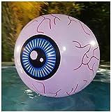 ZHMIAO Augapfel - Bola de luz LED para piscina, 13 colores brillantes, 40 cm, luces LED hinchables, pelota de playa con mando a distancia para juegos de piscina