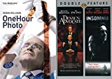 Getting CREEPY With Robin and Al Triple Feature: One Hour Photo & Devil's Advocate/ Insomnia DVD set Al Pacino Robin Williams