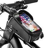 unibelin Sacoche Vélo Téléphone Étanche Sacoche de Cadre Vélo avec Écran Tactile Sac de téléphone de Vélo avec Pare-Soleil Sacoches de Guidon pour Smartphone sous 6,5 Pouces