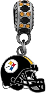 Final Touch Gifts Pittsburgh Steelers Helmet Charm Fits European Style Large Hole Bead Bracelets