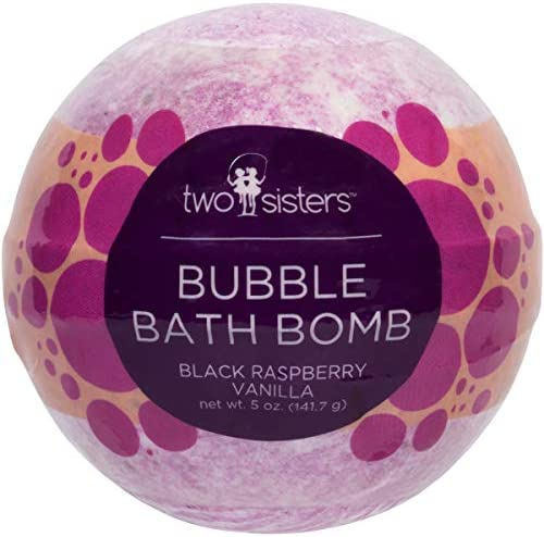 Black Raspberry Vanilla Bubble Bath Bomb by Two Sisters Spa Large 99 Natural Fizzy for Women product image