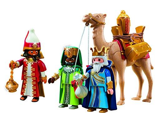 Outletdelocio. Playmobil Navidad 5589. Conjunto 3 Reyes Magos con camello y regalos. 59 piezas