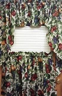 Best fruit pattern kitchen curtains Reviews