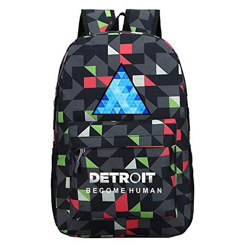 Detroit Become Human Zaini Nuova borsa del computer zaino casual moda zaino selvaggio unisex (Color : Black04, Size : 30 X 13 X 43cm)