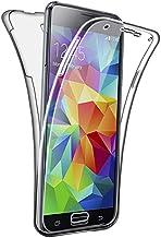 SDTEK Funda para Samsung Galaxy S5 / S5 Neo 360 Doble Delantera [Transparente Carcasa] Full Body Case Bumper Cover Suave Silicona Samsung Galaxy S5 / S5 Neo