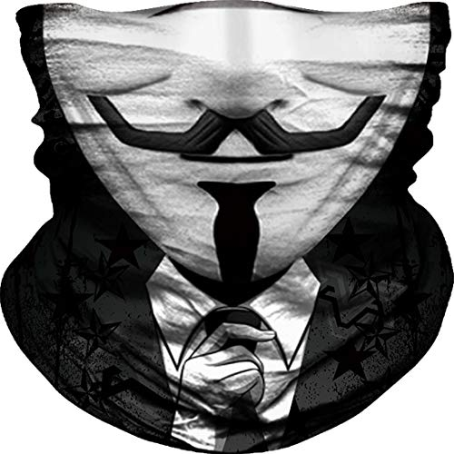 JIEBINGO Skull Face Mask Dust Wind Sun Protection Seamless 3D Tube Mask Bandana for Men Women Durable Thin Breathable Skeleton Mask Motorcycle Riding Biker Fishing Cycling Sports (magician), Large