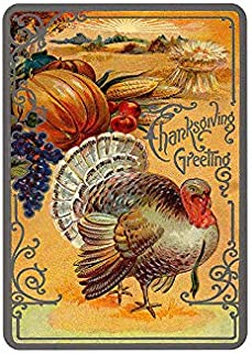 Mora color Thanksgiving Day Happy Thanksgiving tin Sign Vintage Metal Pub Club Cafe bar Home Wall Art Decoration Poster Retro 8x12 inches
