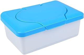 Baby Wipes Dispenser, Wet Tissue Case Baby Wipes Box Home Tissue Holder Accessories (Blue/Pink)