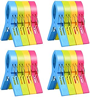 ilyever 16 Pack Fashion Color Beach Towel Clips for Beach Chair or Pool Loungers on Your..