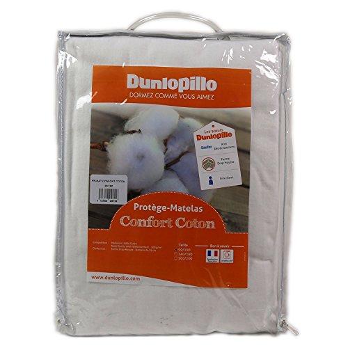 Dunlopillo Matratzenschoner Baumwolle, weiß, 140x 190cm