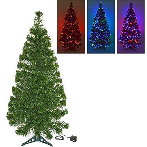 Rebeca Shop Albero di Natale con Punte in Fibra Ottica Multicolor Varie Lunghezze (80 Cm)