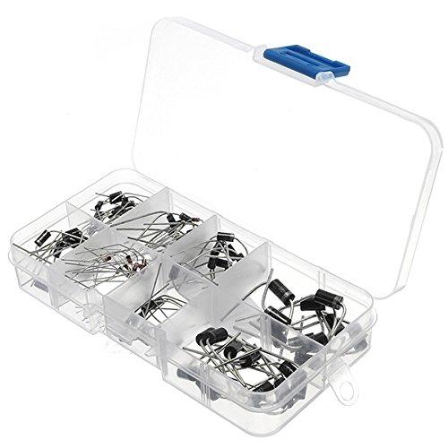 Amazon.de - 100 pieces Diodes Kit Rectifier Schottky 1N4007 1N4148 1N5817 1N5408 1N5822 1N5399 FR107 FR207