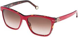 Carolina Herrera Women's SHE606 Wayfarer Sunglasses Multi 55 mm