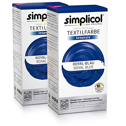 Simplicol Kit de Tinte Textile Dye Intensive Azul: Colorante para Teñir Ropa, Tejidos y...