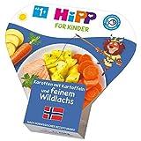 Hipp Kinder-Teller, Karotten mit Kartoffeln und feinem Wildlachs, 6er Pack (6 x 250g)