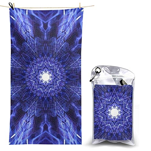 Microfibre Beach Towel Extra Large - 130cm x 70cm Quick Dry XL Lightweight Towel with Easy Zip Bag - Perfect for Beach, Travel, Yoga, Sports, Gym, Swimming & Camping - Ancient Art