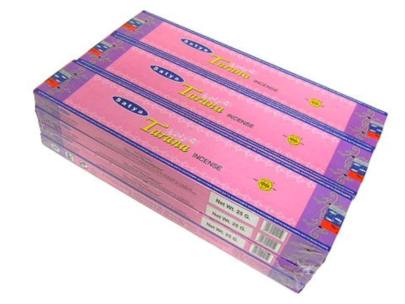 リング時間とともに統計SATYA(サチャ) タラーナ香 スティック TARANA 12箱セット